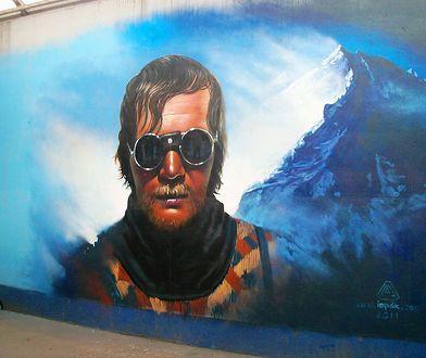 Jerzy Kukuczka upamiętniony na graffiti w Katowicach