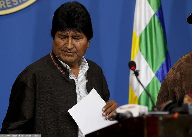 Protesty w Boliwii zmusiły prezydenta Evo Moralesa do rozpisania nowych wyborów