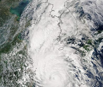 Tajfun Lingling spustoszył Półwysep Koreański. Teraz zmierza do Chin