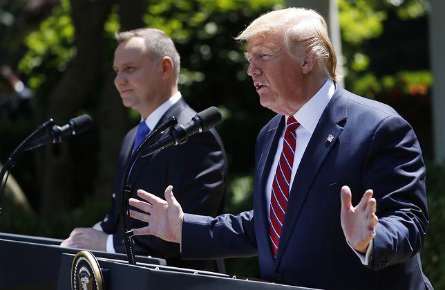 Prezydenci Trump i Duda spotkali się z dziennikarzami przed Białym Domem