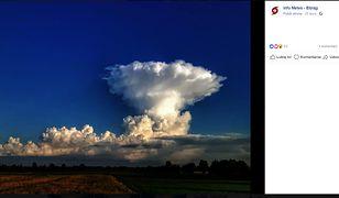 """Ta chmura wystraszyła mieszkańców. """"Groźna i nietypowa"""""""