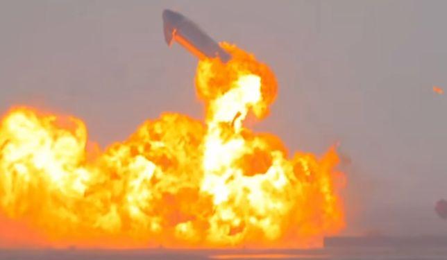 Wybuch prototypu SN10 po udanym lądowaniu