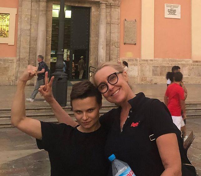 Agata Młynarska z siostrzenicą Alicją Nauman