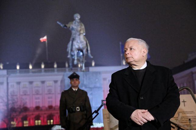 Prezes PiS Jarosław Kaczyński wygłosi przemówienie podczas obchodów 9. rocznicy katastrofy smoleńskiej w Warszawie