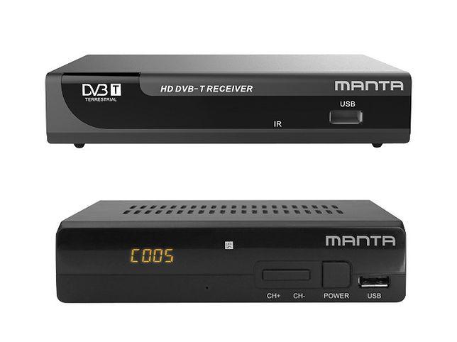 Nowe tunery DVB-T Manta DVBT010 HD i DVB07 HD