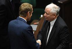 """Debata Kaczyński-Tusk? """"Najpierw dotrzymaj obietnicy"""""""