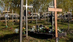 Bezdomni sprzątają bezimienne groby na Cmentarzu Południowym w Antoninowie k. Warszawy