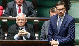 Jarosław Kaczyński i Mateusz Morawiecki w Sejmie