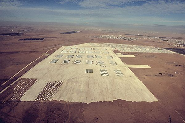 Obóz uchodźców syryjskich Za'atri na terenie Jordanii