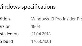 Kolejne niewiele wnoszące kompilacje z gałęzi Redstone 5, tj. buildy 17650 oraz 17655