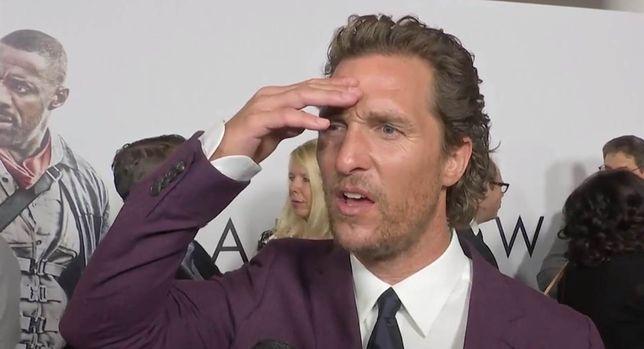 """Matthew McConaughey podczas premiery filmu """"Mroczna wieża"""""""