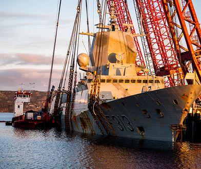 Fregata Helge Instag po podniesieniu z dna