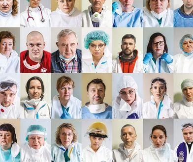 Warszawa. Twarz pandemii. Fotograficzny kolektyw złożył podziękowania medykom