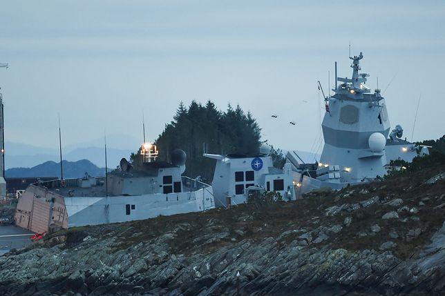 Fregata rakietowa KNM Helge Ingstad zderzyła się z tankowcem Sola TS