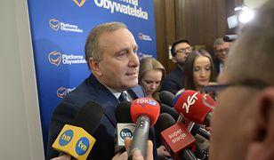 Przewodniczący PO Grzegorz Schetyna