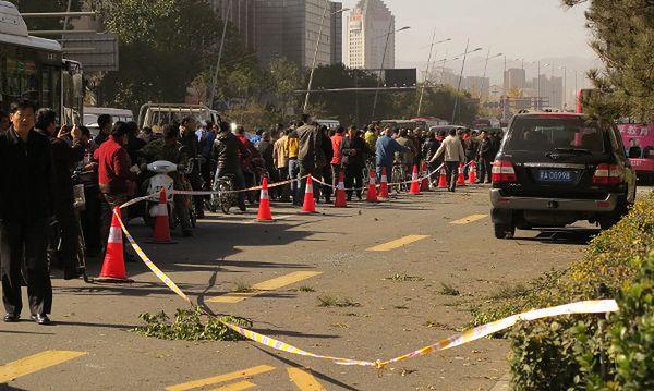 Miejsce ataku w Taiyuan