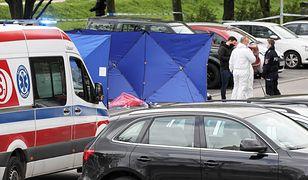 Strzały na Gocławiu. Akcja policji przy pralni chemicznej (ZDJĘCIA)