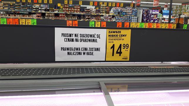 """Dziwaczna sytuacja w Biedronce. """"Prosimy nie sugerować się cenami na opakowaniu"""""""