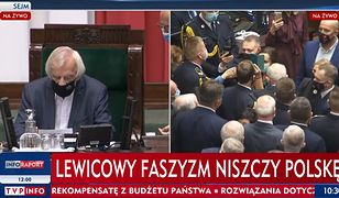 """KRRiT nie widzi nic złego w pasku TVP: """"Lewicowy faszyzm niszczy Polskę"""""""
