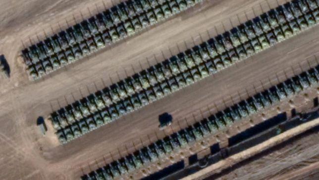 Zdjęcia pokazują bazę pod Kamieńskiem Szachtyńskim