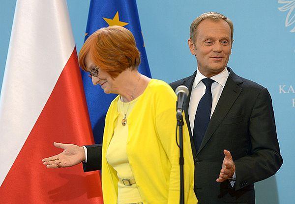 Prof. Małgorzata Fuszara i Donald Tusk