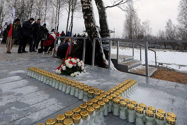 Obchody pierwszej rocznicy katastrofy lotniczej w Smoleńsku w 2011 r.