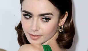 LOOK OF THE DAY: Lily Collins w zieleni