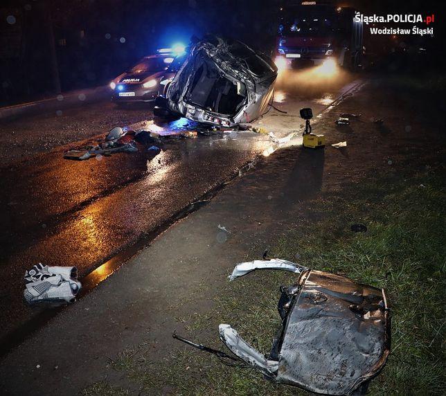 Tragicznie zakończył się wypadek na jednej z ulic w Wodzisławiu Śl.