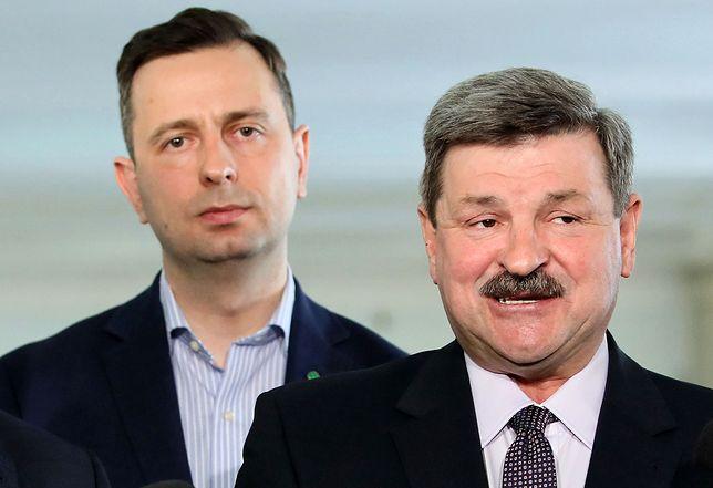 Szef PSL Władysław Kosiniak-Kamysz i Jarosław Kalinowski