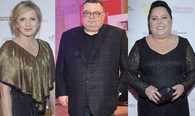Marzena Rogalska, Wojciech Mann, Dorota Wellman