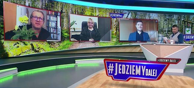 Gratulacje dla Jarosława Kurskiego na antenie TVP Info