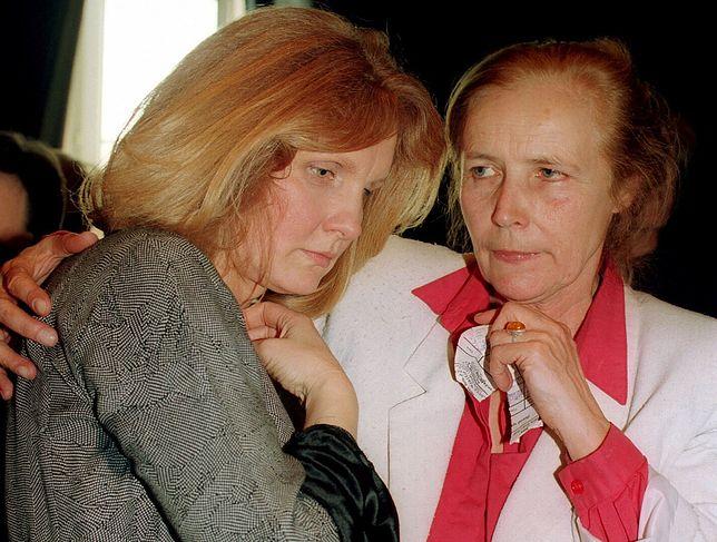 Magda Umer i Agnieszka Osiecka w 1994 r.