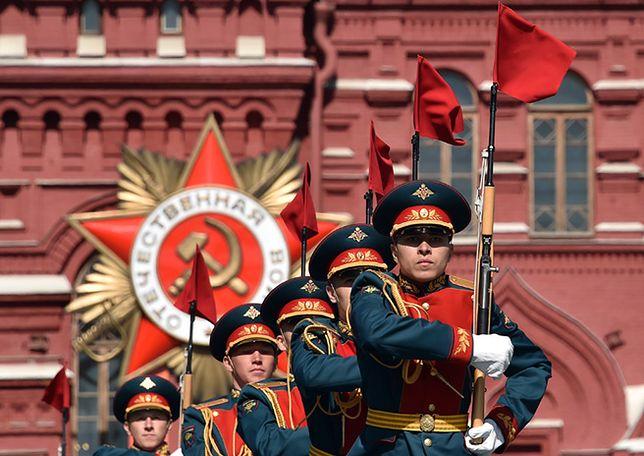 Próba rosyjskich żołnierzy przed defiladą