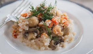 Polskie krewetki. Ryż z rakami i pieczarkami