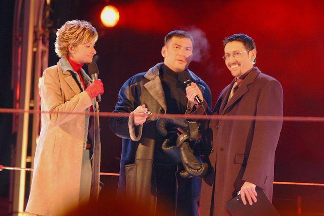 """Andrzej Sołtysik, Martyna Wojciechowska i Dariusz Michalczewski w programie """"Big Brother"""""""