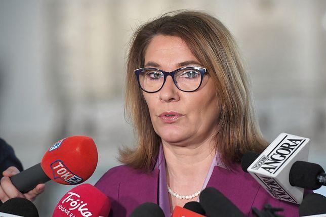 Beata Mazurek oczekuje od PO wytłumaczenia się z poparcia dla Ludmiły Kozłowskiej