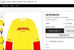 Bluza z logo DHL za 1,5 tysiąca złotych. Drogo? to i tak promocja