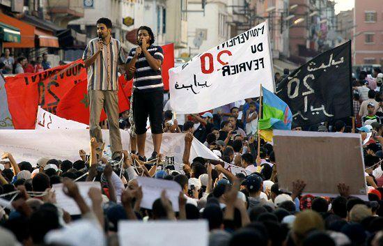 Tysiące manifestantów na ulicach Casablanki