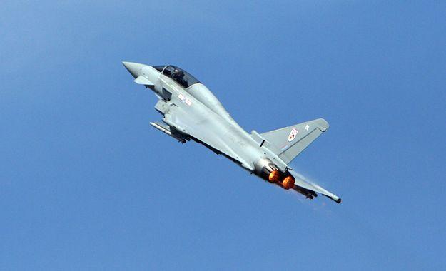 Brytyjski Eurofighter Typhoon.
