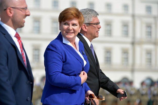 Beata Szydło podczas uroczystości na placu Piłsudskiego