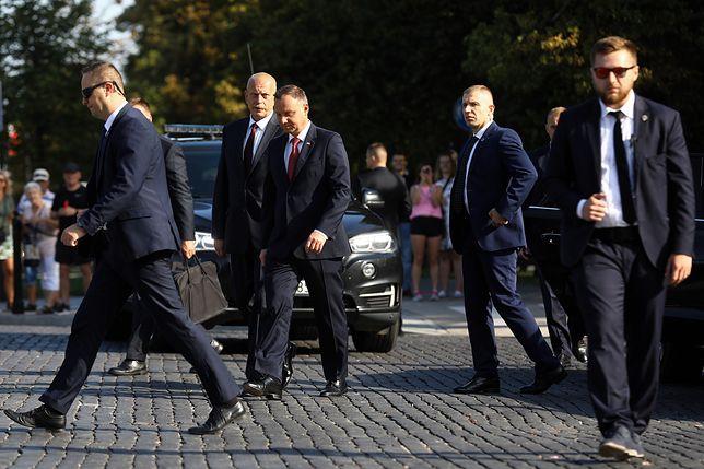 Prezydent Andrzej Duda korzysta z ochrony SOP
