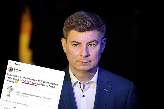 """Pracownica biura prasowego PO: """"Trudno odróżnić słowa Kaczyńskiego od Hitlera"""""""