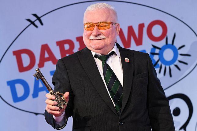 Lech Wałęsa odebrał honorowe obywatelstwo miasta Darłowo