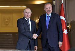 """Recep Erdogan i Władimir Putin zapowiadają współpracę. """"Nie będzie zawieszenia broni"""""""