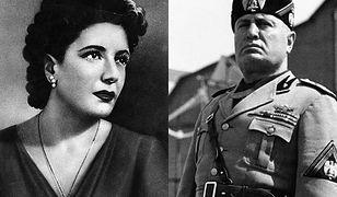 Benito Mussolini i Clara Petacci - kochanka została z nim aż do śmierci
