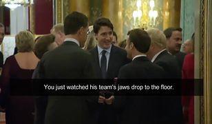 Justin Trudeau, Emmanuel Macron i Boris Johnson