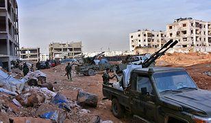 Walki we wschodniej części Aleppo.