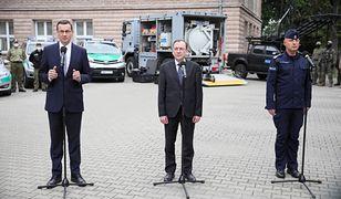 Konferencja prasowa Mateusza Morawieckiego i Mariusza Kamińskiego