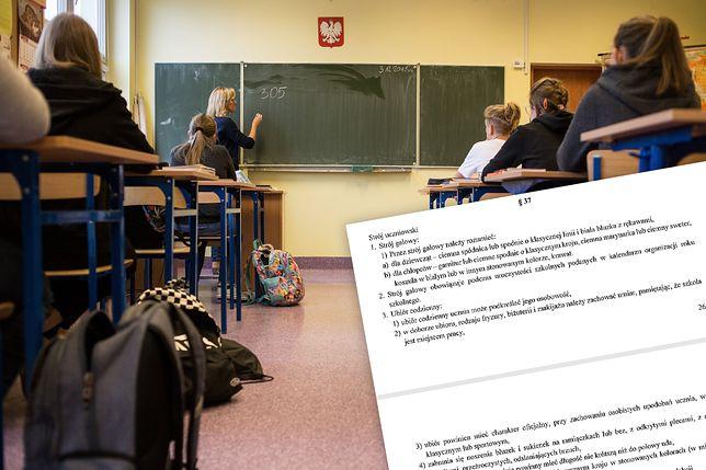 Uczniowie I LO w Rzeszowie protestują przeciwko nowym zasadom ubioru