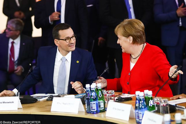 Poznań. Mateusz Morawiecki i Angela Merkel podczas szczytu Bałkanów Zachodnich